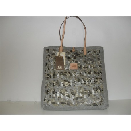 BORSA A SPALLA LA MARTINA SHOPPING BAG IN TESSUTO MAXI