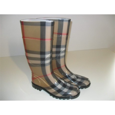 BURBERRY STIVALI DA PIOGGIA RAINBOOT SCARPE DONNA SHOES ANTIPIOGGIA