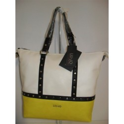 BORSA LIU JO SHOPPING BAG IO BICOLOR GIALLO