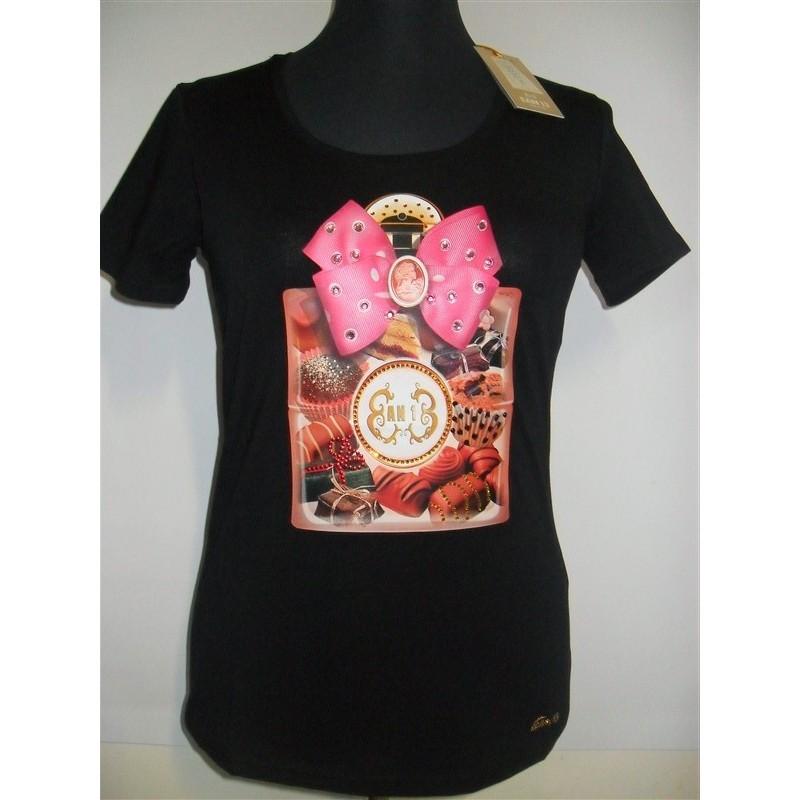 13 Shirt Donna Swarovski Ean T NeroEbay Maglia Nn0wv8m