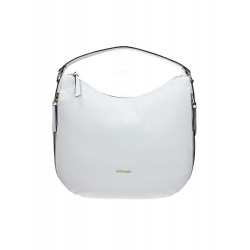 TWIN SET SHOPPING BAG HOBO MULTIZIP COLORE BIANCO