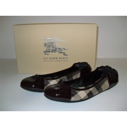 BURBERRY BALLERINE SMOKED CHECK SCARPE DONNA SHOES N. 36