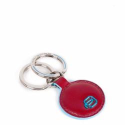 PIQUADRO Portachiavi in pelle forma tonda rosso Blue Square PC4225B2/R