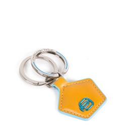 PIQUADRO Portachiavi in pelle forma pentagonale giallo Blue Square PC4226B2/G
