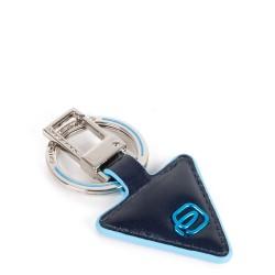 PIQUADRO Portachiavi in pelle forma triangolare blu Blue Square PC4224B2/blu2