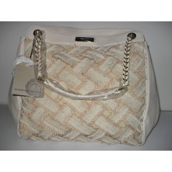 BORSA SHOPPING ERMANNO SCERVINO STREET BEIGE IN ECOPELLE ORIGINALE BAG