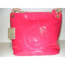 BORSA SHOPPING ERMANNO SCERVINO STREET FUCSIA IN VERNICE ORIGINALE BAG