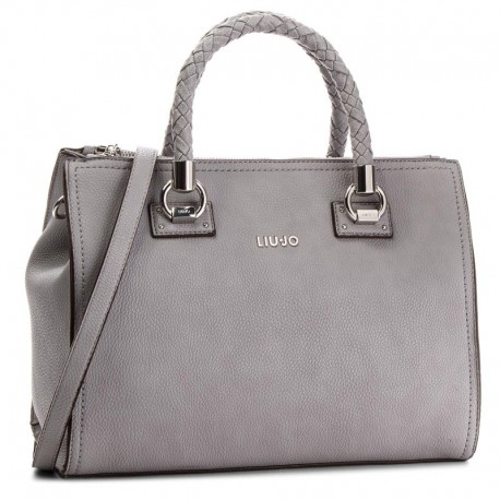 BORSA SHOPPING BAG LIU JO A MANO E TRACOLLA SATCHEL ZIP MANHATTAN IN  ECOPELLE FROZEN 4a0bba5dd0c
