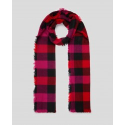 WOOLRICH SCIARPA W'S SCARF BUFFALO CHECK ROSSO